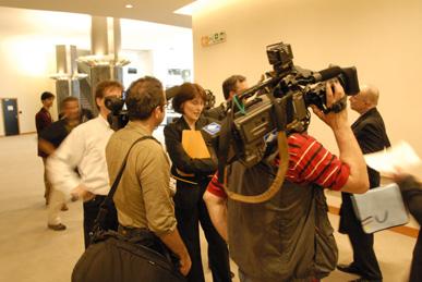 Kamerateam bei der Arbeit